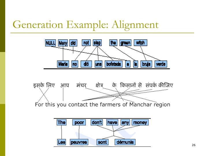 Generation Example: Alignment
