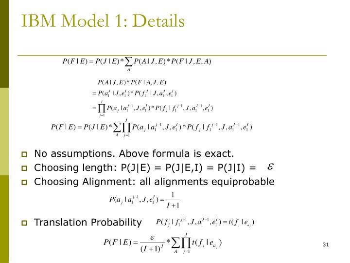 IBM Model 1: Details