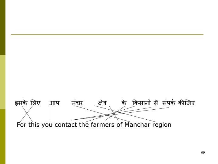 इसके लिए   आप    मंचर     क्षेत्र     के  किसानों सॆ