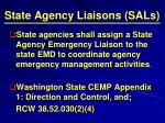 state agency liaisons sals