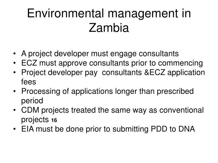 Environmental management in Zambia