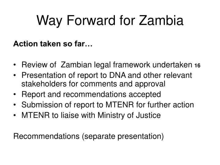 Way Forward for Zambia