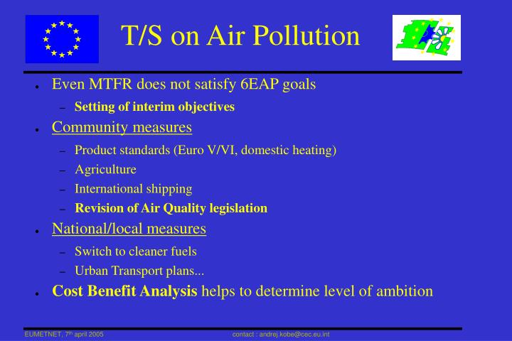 T/S on Air Pollution