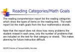 reading categories math goals