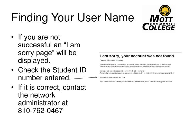 Finding Your User Name