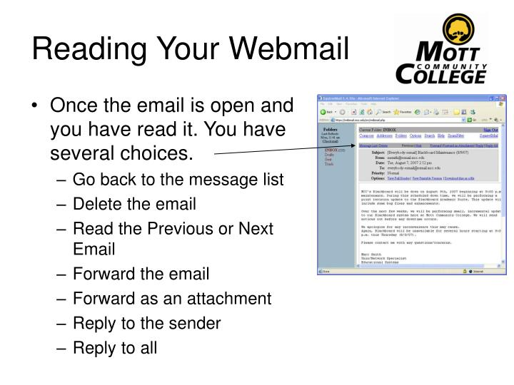 Reading Your Webmail