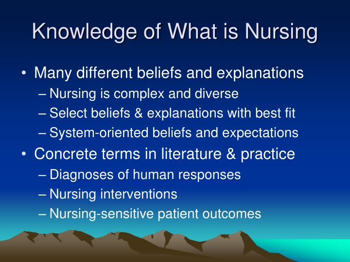 Knowledge of What is Nursing