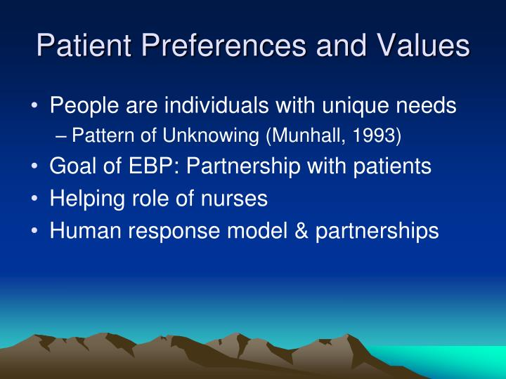 Patient Preferences and Values