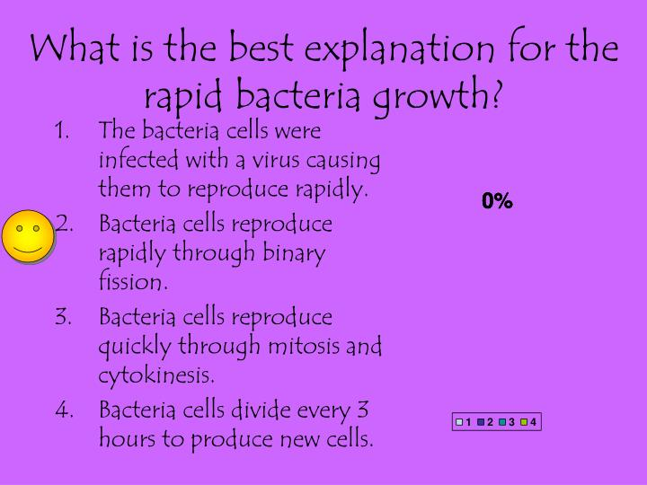 What is the best explanation for the rapid bacteria growth?