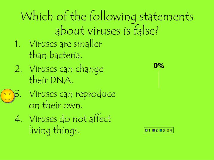Which of the following statements about viruses is false?