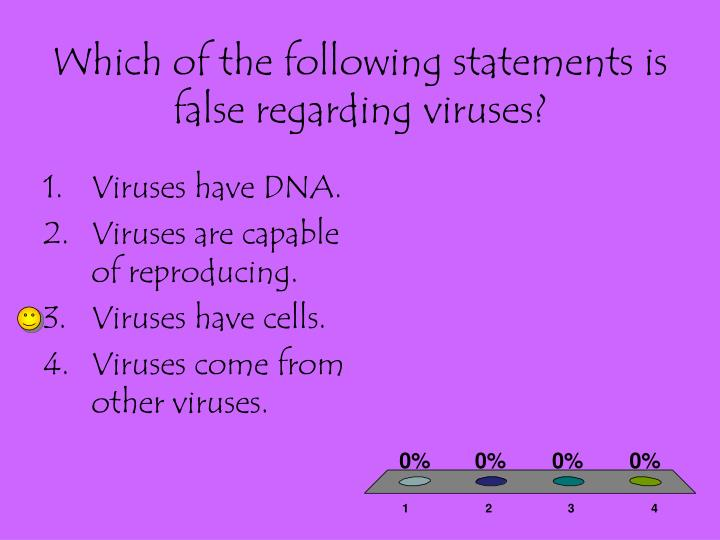 Which of the following statements is false regarding viruses?