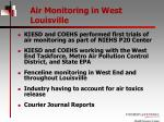 air monitoring in west louisville