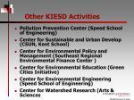other kiesd activities
