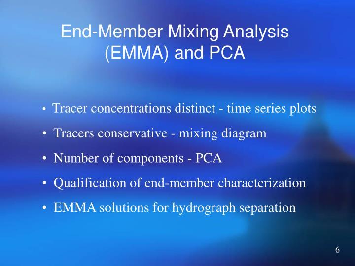 End-Member Mixing Analysis