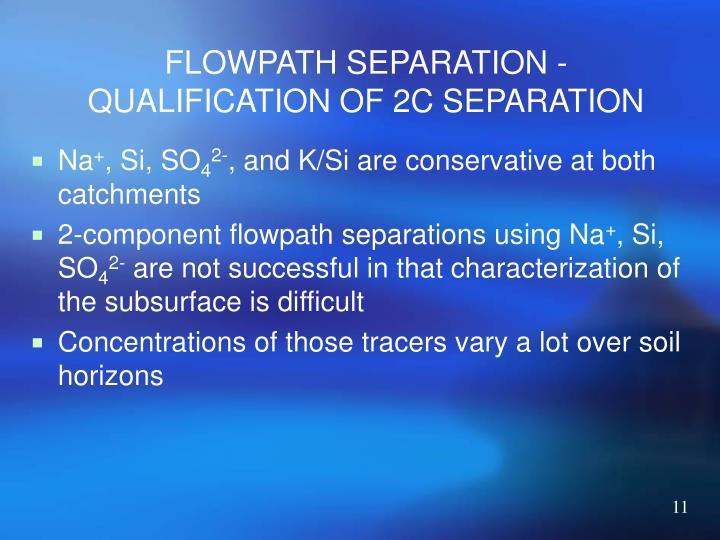 FLOWPATH SEPARATION - QUALIFICATION OF 2C SEPARATION