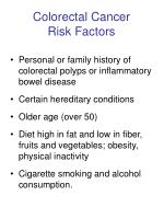 colorectal cancer risk factors