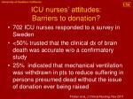 icu nurses attitudes barriers to donation