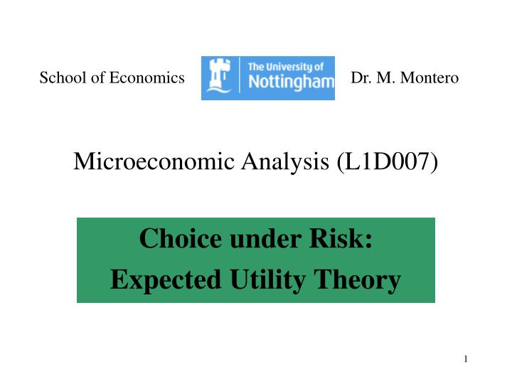 microeconomic analysis l1d007 n.