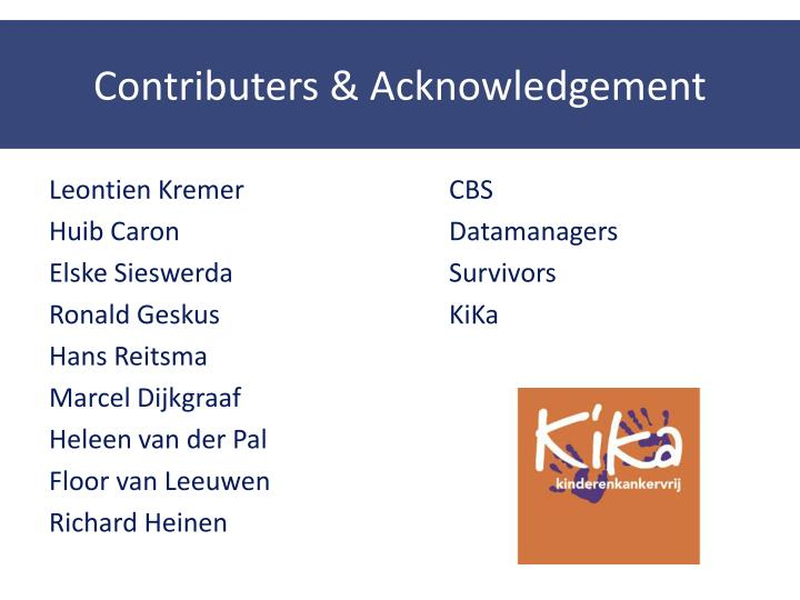 Contributers & Acknowledgement