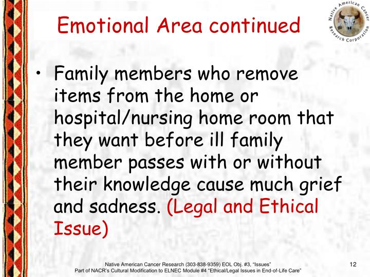 Emotional Area continued