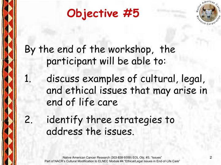 Objective #5