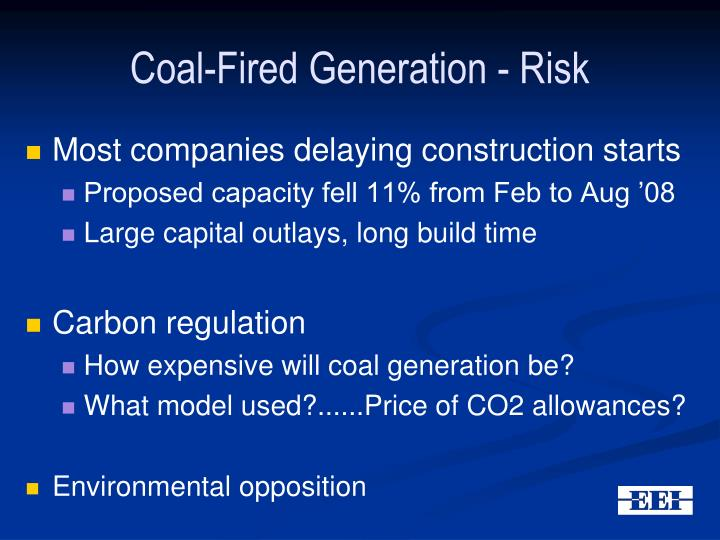 Coal-Fired Generation - Risk
