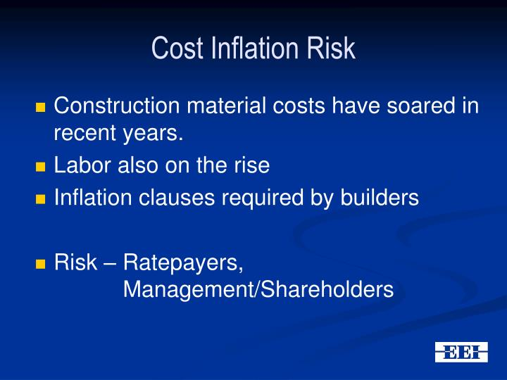 Cost Inflation Risk