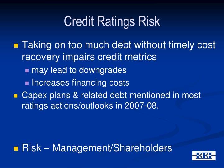 Credit Ratings Risk