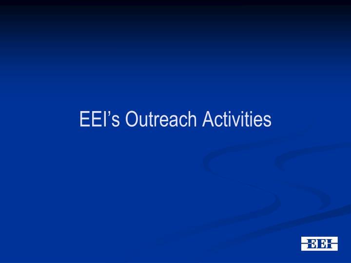 EEI's Outreach Activities