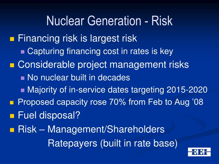 Nuclear Generation - Risk