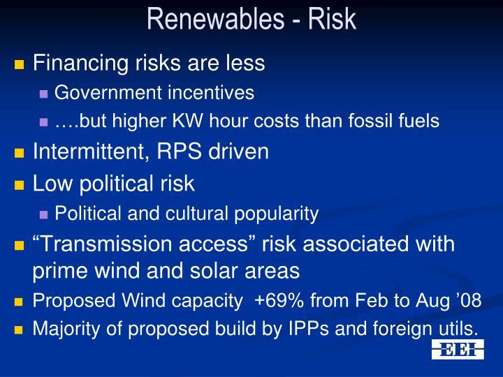 Renewables - Risk