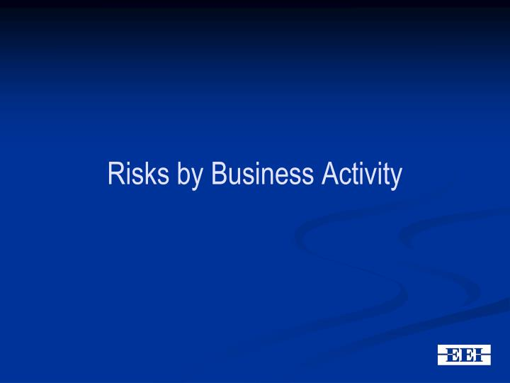 Risks by Business Activity