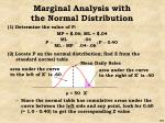 marginal analysis with the normal distribution2