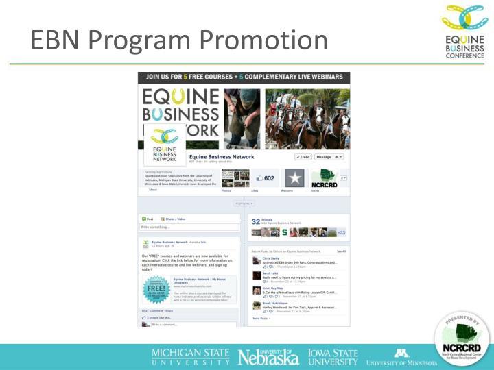 EBN Program Promotion