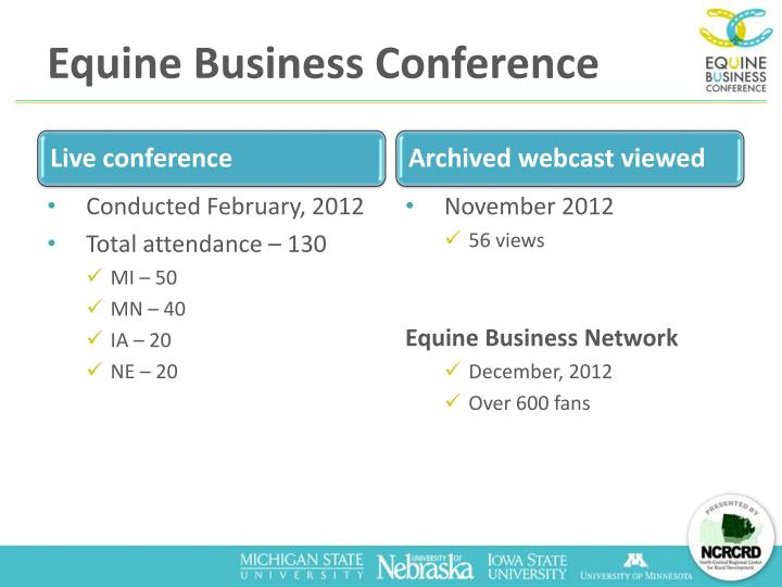 Equine Business Conference
