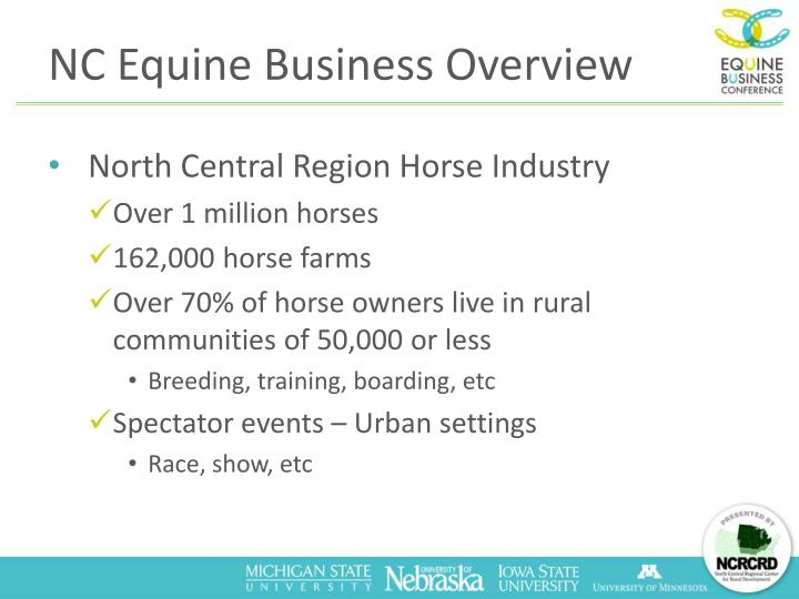 Nc equine business overview
