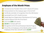 employee of the month prizes