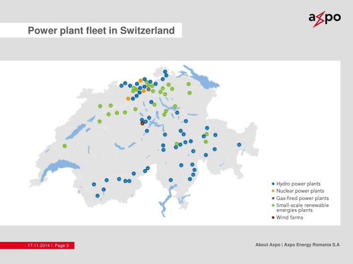 Power plant fleet in Switzerland