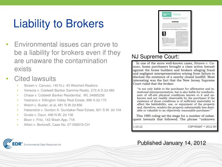Liability to Brokers