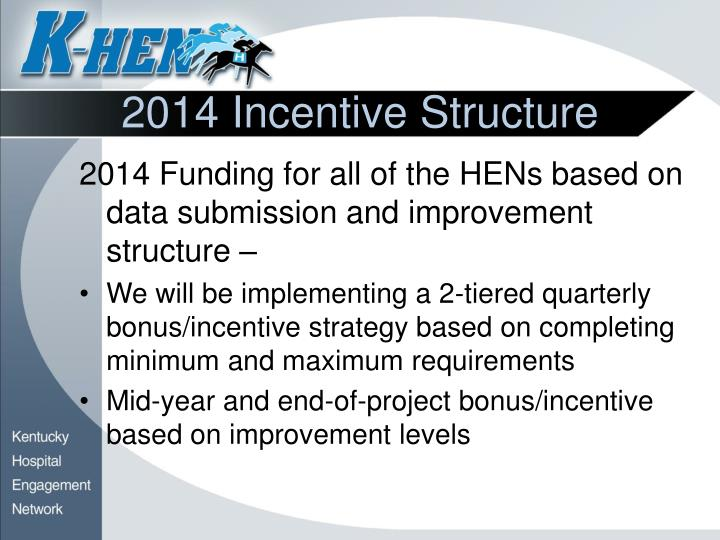 2014 Incentive Structure