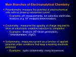 main branches of electroanalytical chemistry1