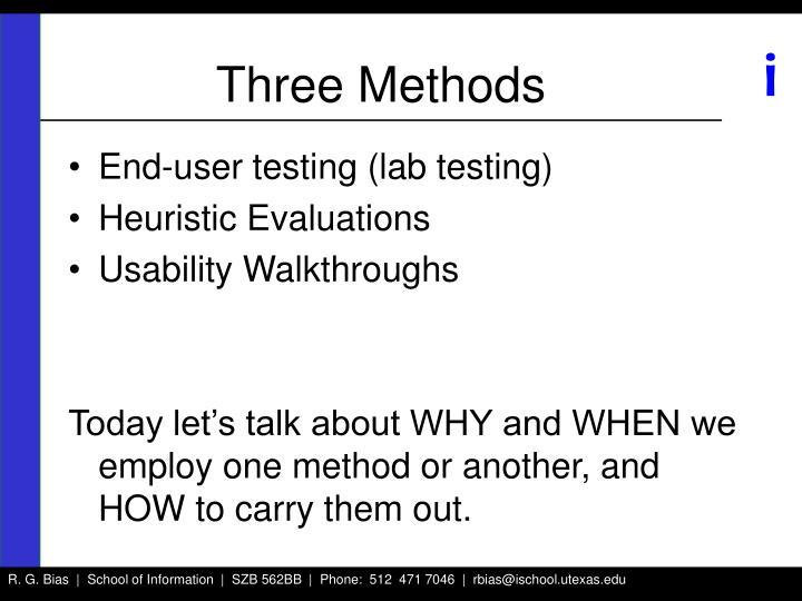 Three Methods