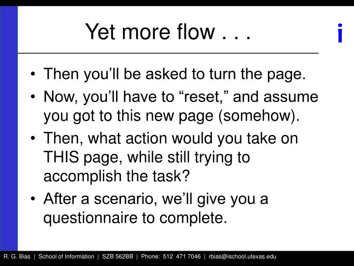 Yet more flow . . .
