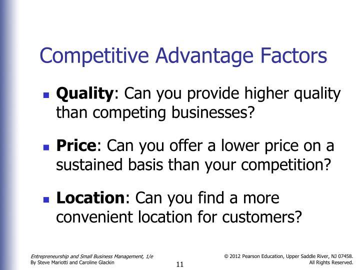Competitive Advantage Factors