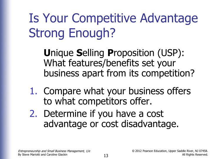 Is Your Competitive Advantage Strong Enough?