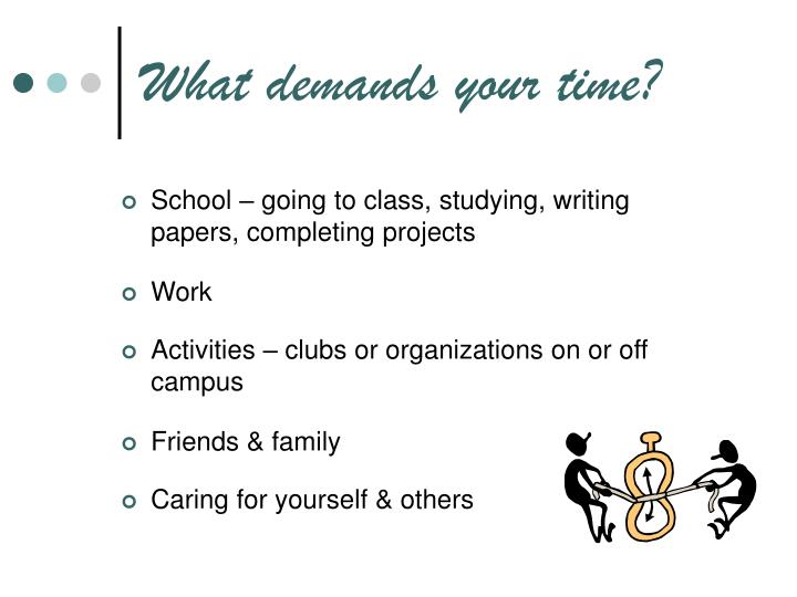 What demands your time?