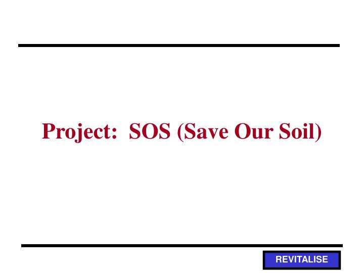 project sos save our soil n.