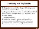 marketing mix implications