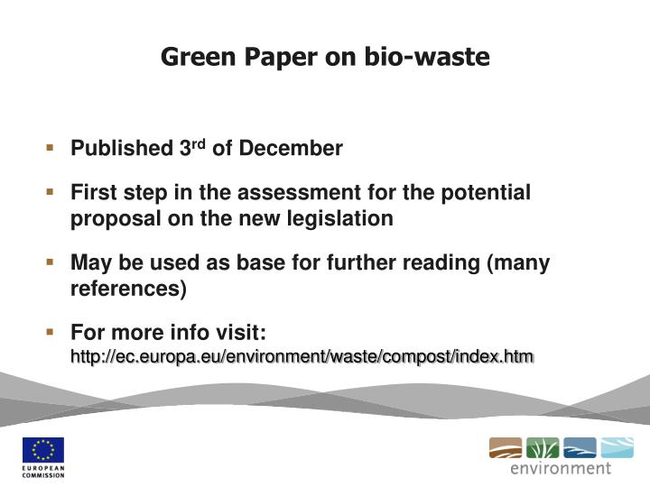 Green Paper on bio-waste