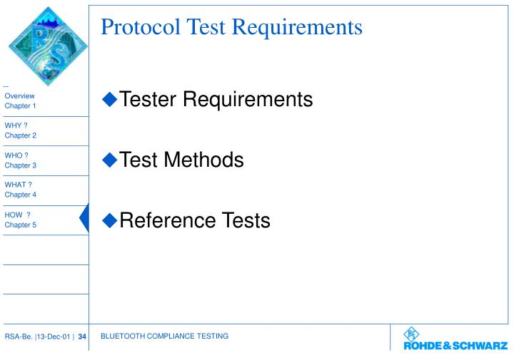 Protocol Test Requirements